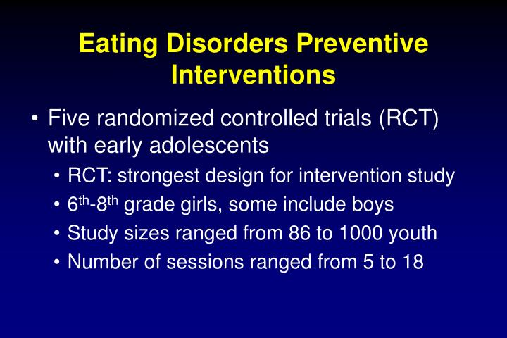 Eating Disorders Preventive Interventions