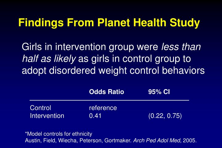 Findings From Planet Health Study