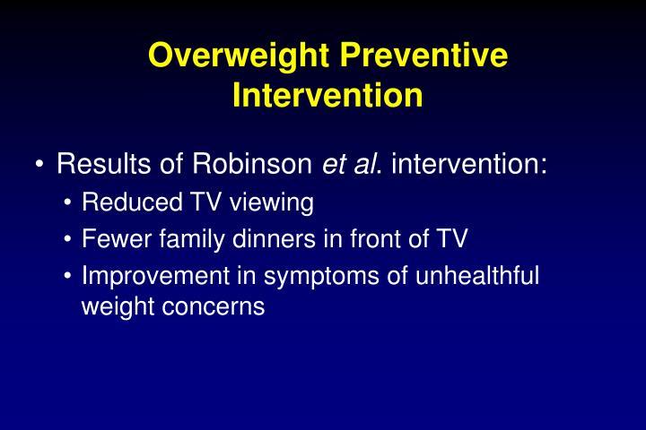 Overweight Preventive Intervention
