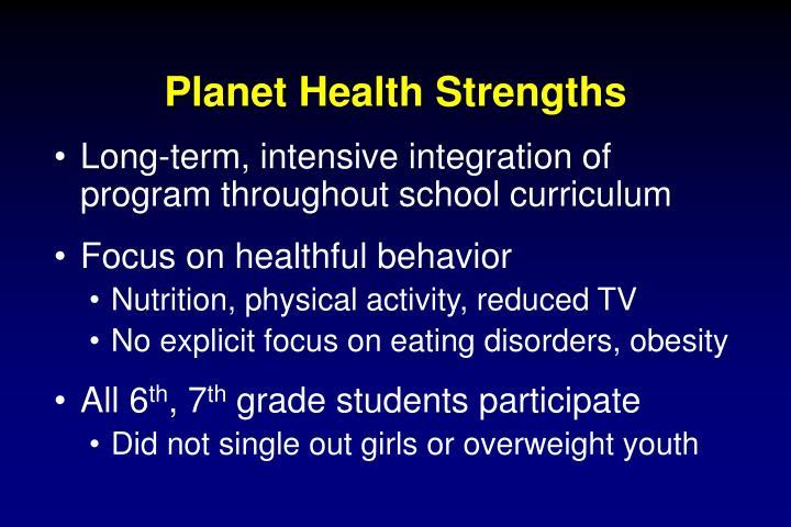 Planet Health Strengths