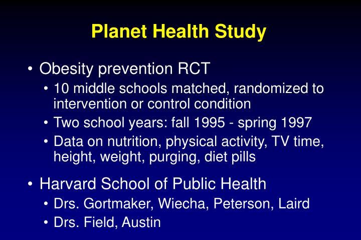 Planet Health Study