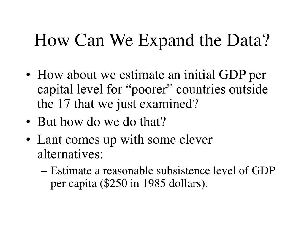 How Can We Expand the Data?
