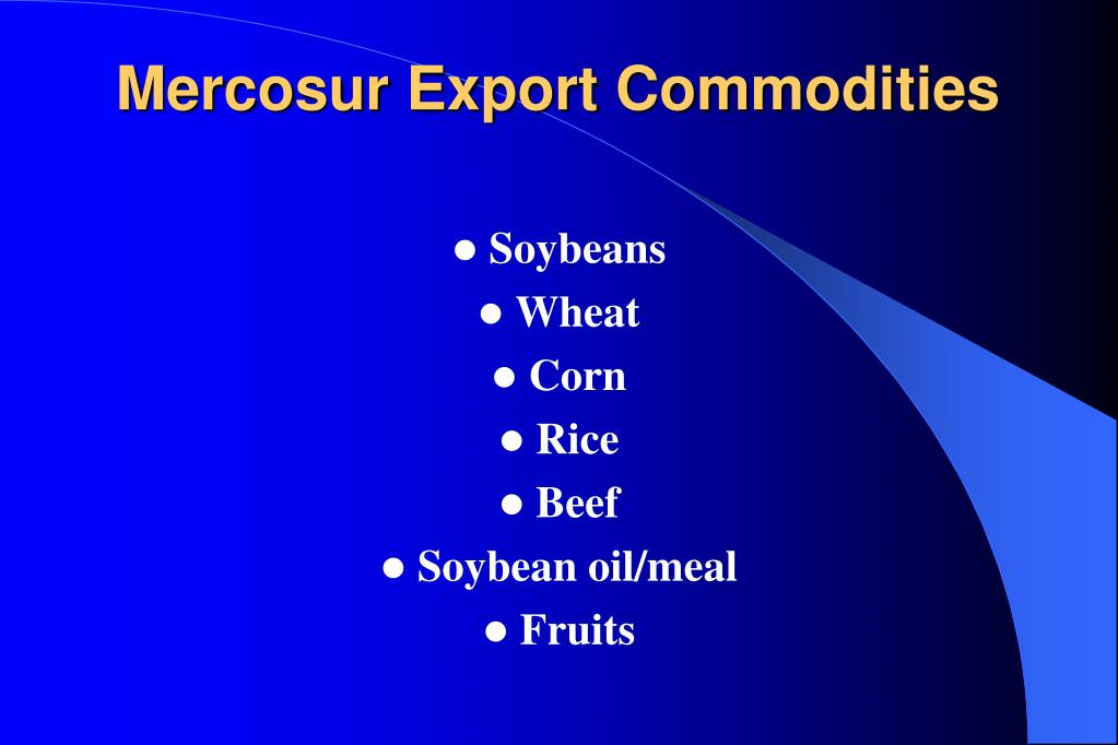 Mercosur Export Commodities