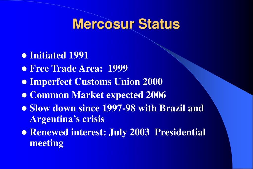 Mercosur Status