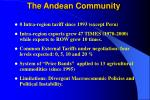 the andean community