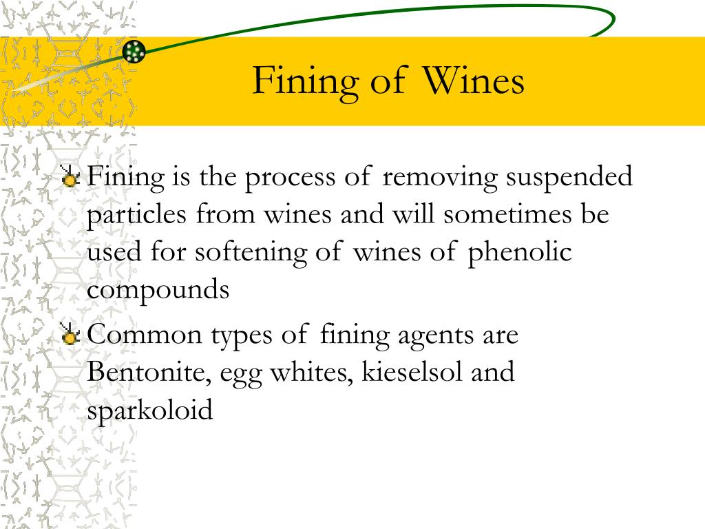 Fining of Wines