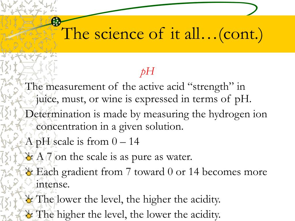 The science of it all…(cont.)