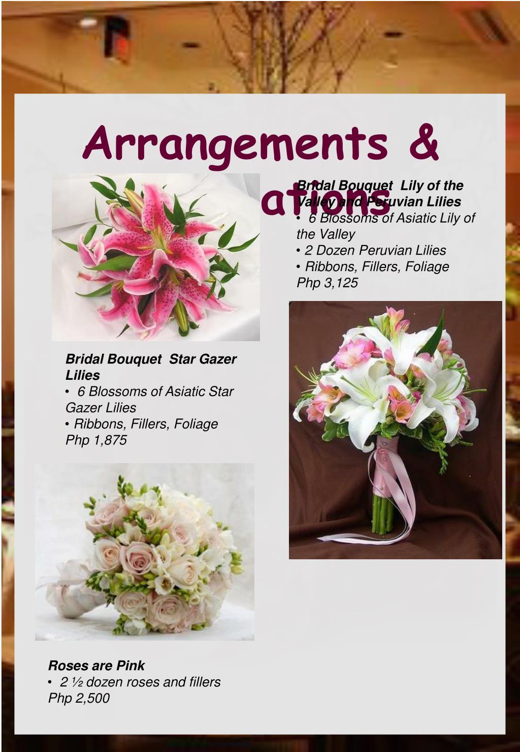 Arrangements & Inspirations