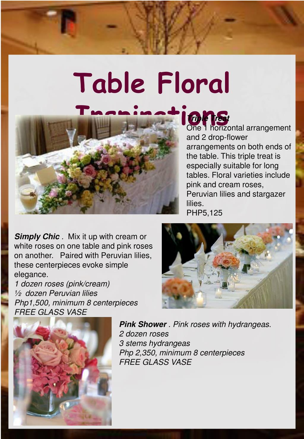 Table Floral  Inspirations