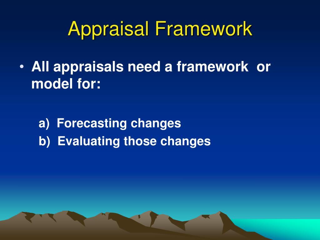Appraisal Framework