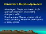 consumer s surplus approach