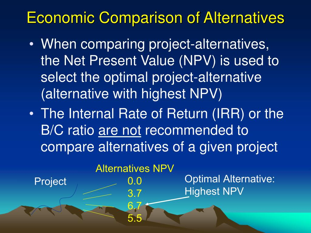 Economic Comparison of Alternatives