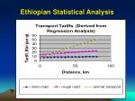 ethiopian statistical analysis