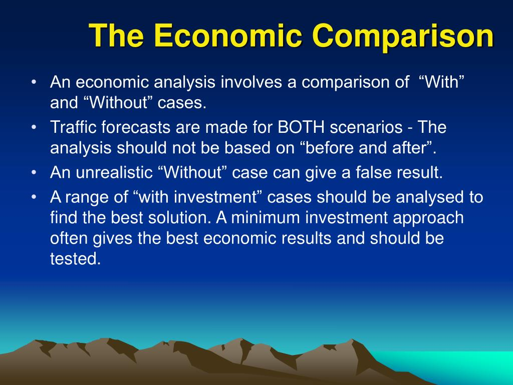 The Economic Comparison