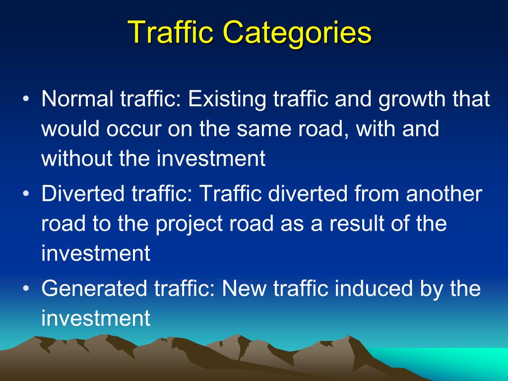 Traffic Categories