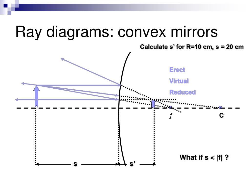 Ray diagrams: convex mirrors