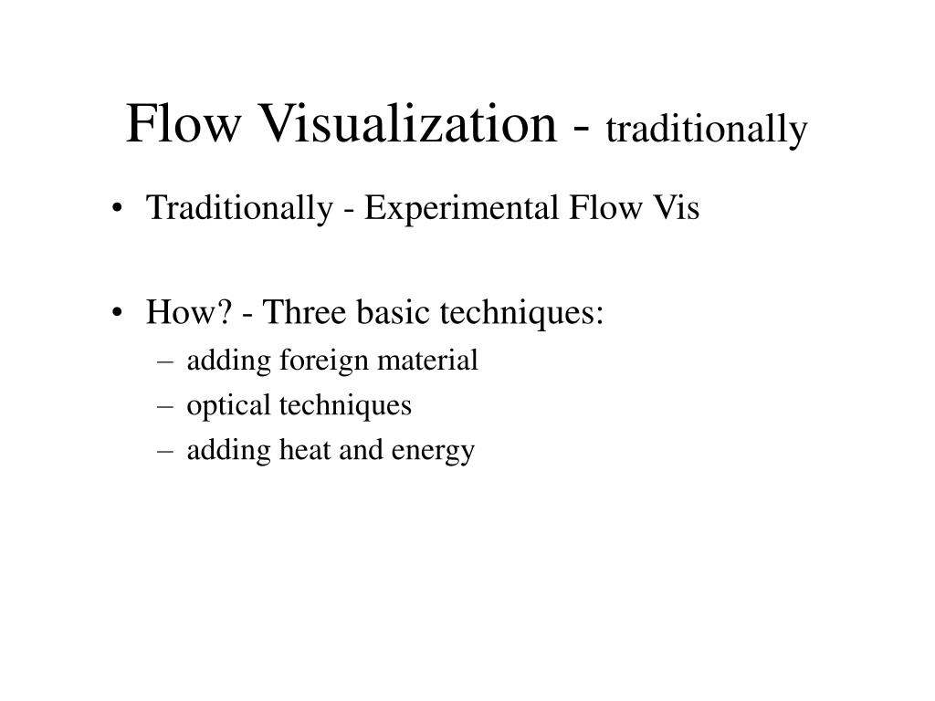 Flow Visualization -