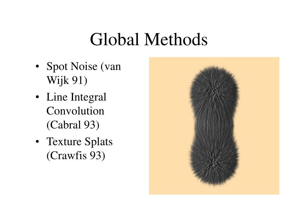 Global Methods