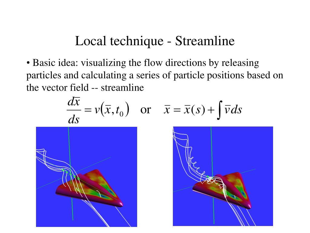 Local technique - Streamline
