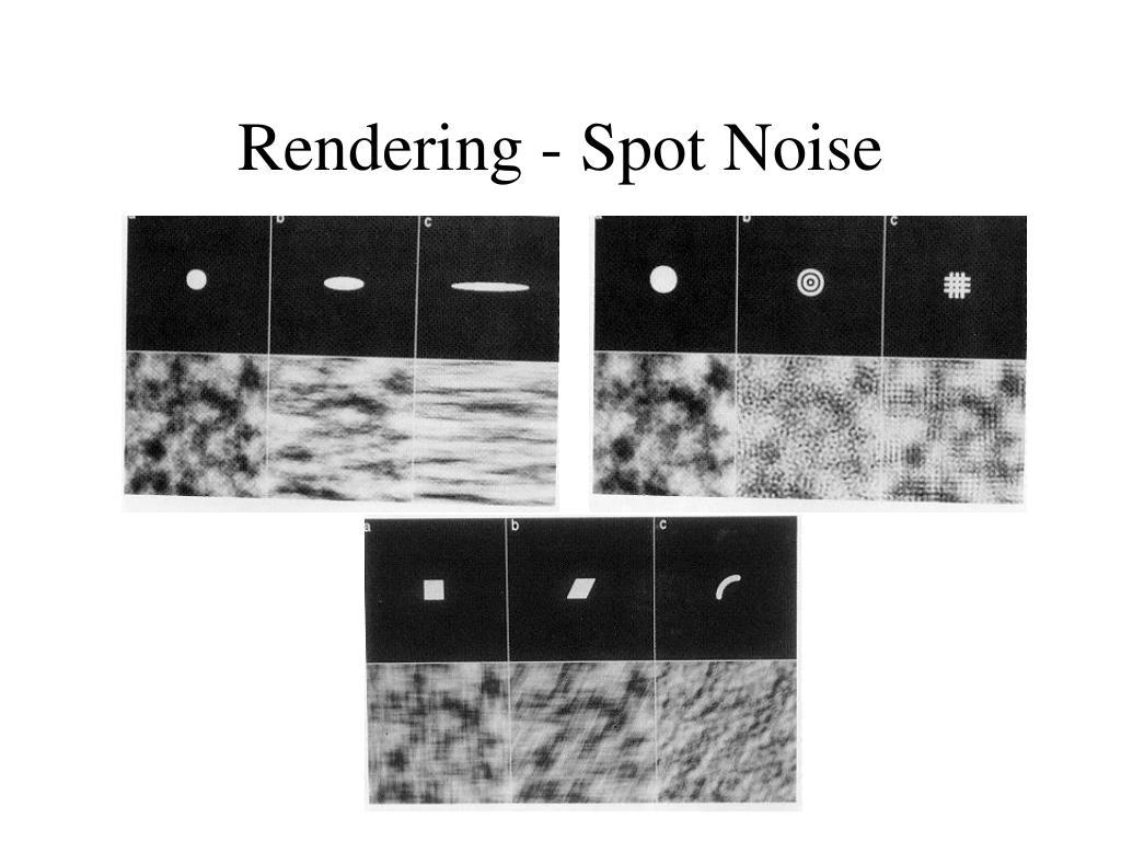 Rendering - Spot Noise
