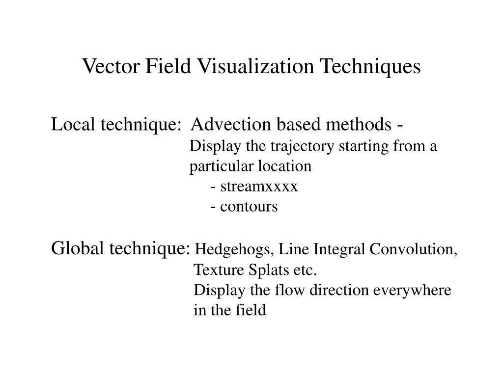 Vector Field Visualization Techniques