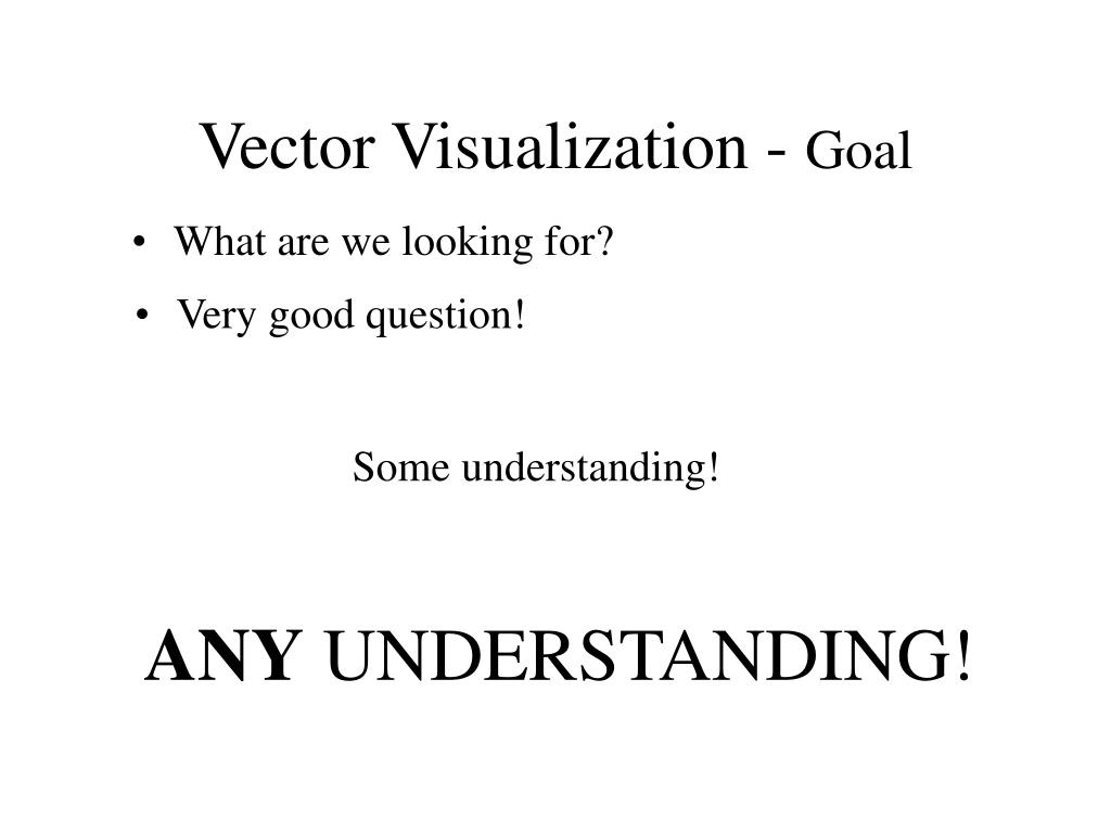 Vector Visualization -