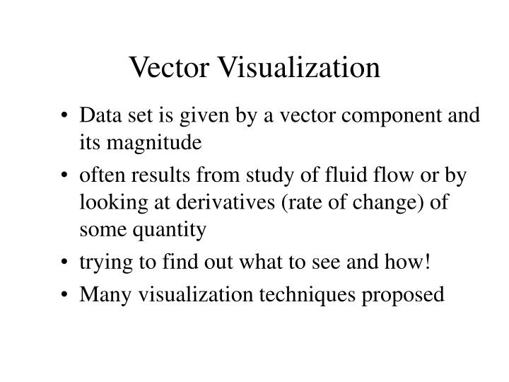 Vector visualization