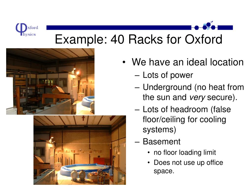Example: 40 Racks for Oxford
