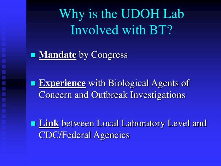 Why is the UDOH Lab