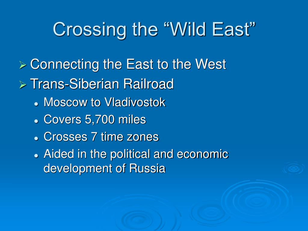"Crossing the ""Wild East"""