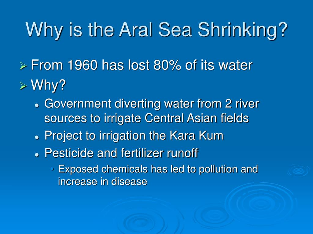 Why is the Aral Sea Shrinking?