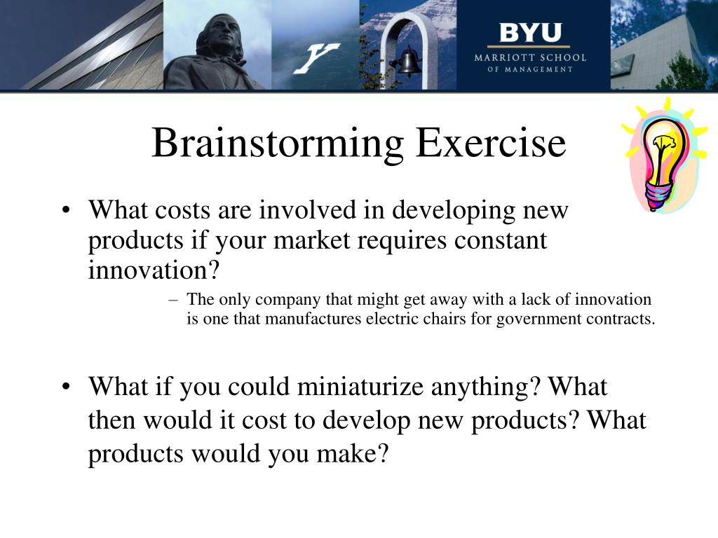 What costs are involved in developing new products if your market requires constant innovation?