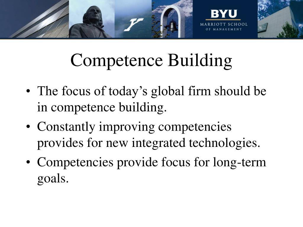 Competence Building