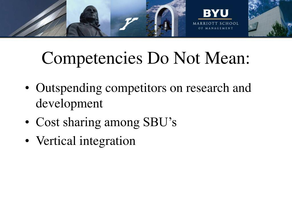 Competencies Do Not Mean: