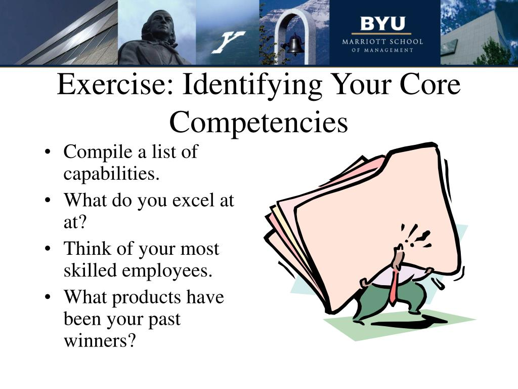Exercise: Identifying Your Core Competencies