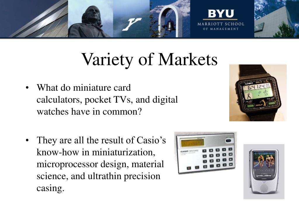 Variety of Markets