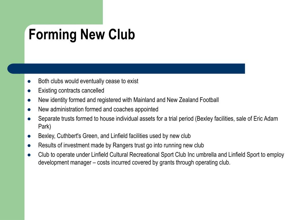 Forming New Club