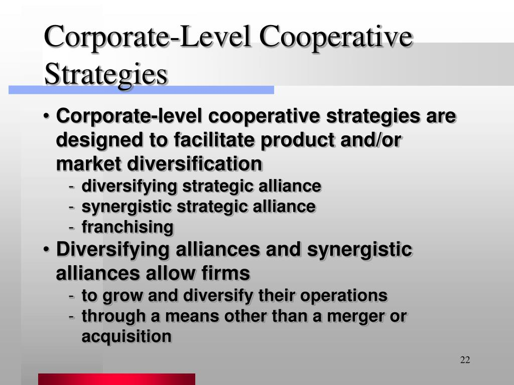 Corporate-Level Cooperative Strategies