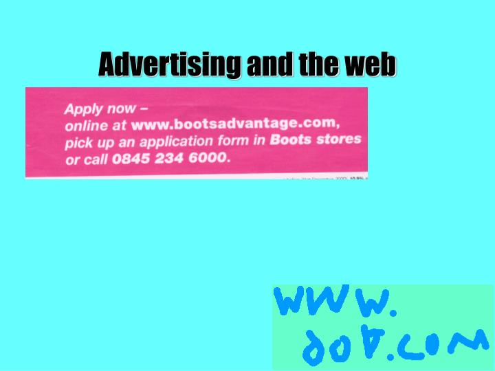 Advertising and the web