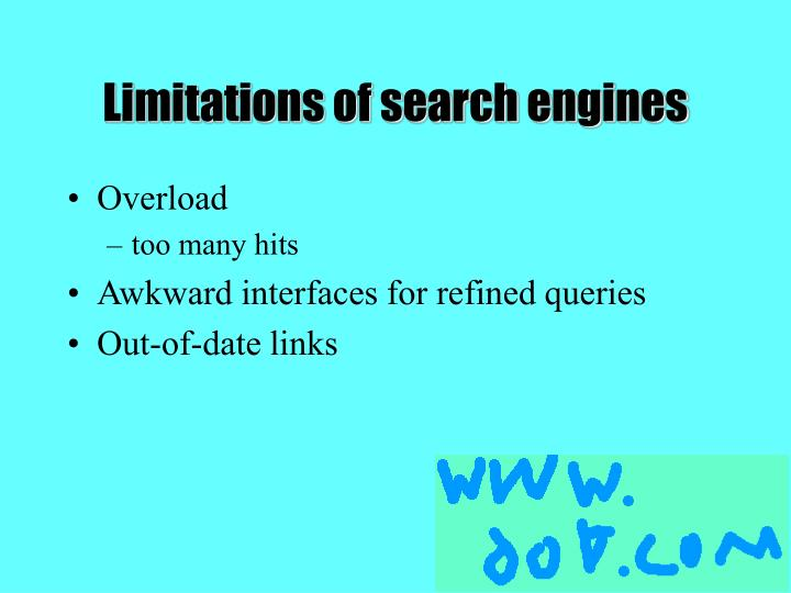 Limitations of search engines