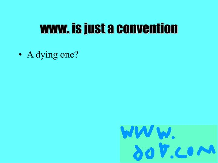 www. is just a convention