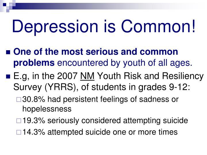 Depression is Common!