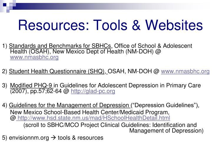 Resources: Tools & Websites
