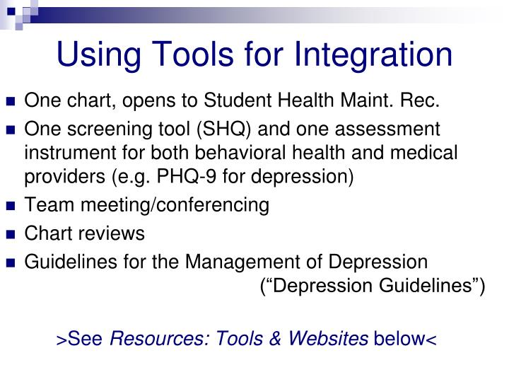 Using Tools for Integration