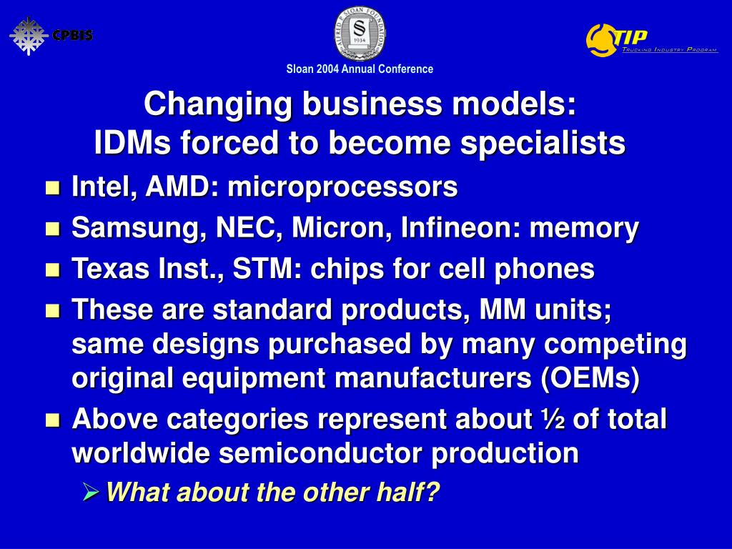 Changing business models: