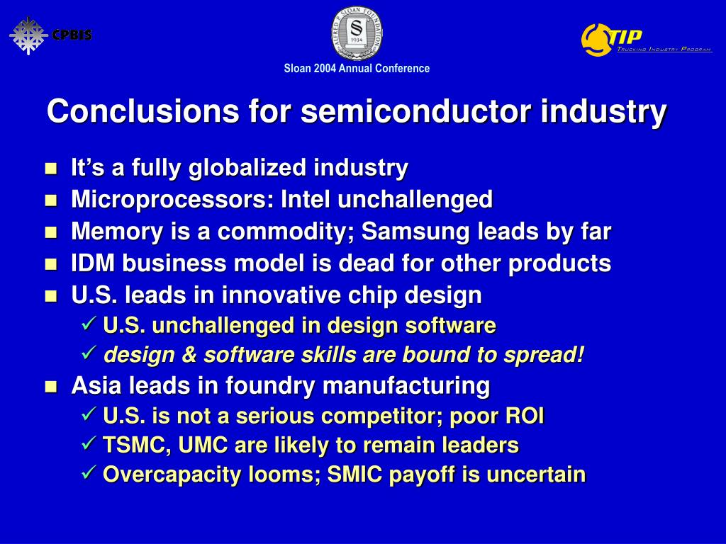 Conclusions for semiconductor industry