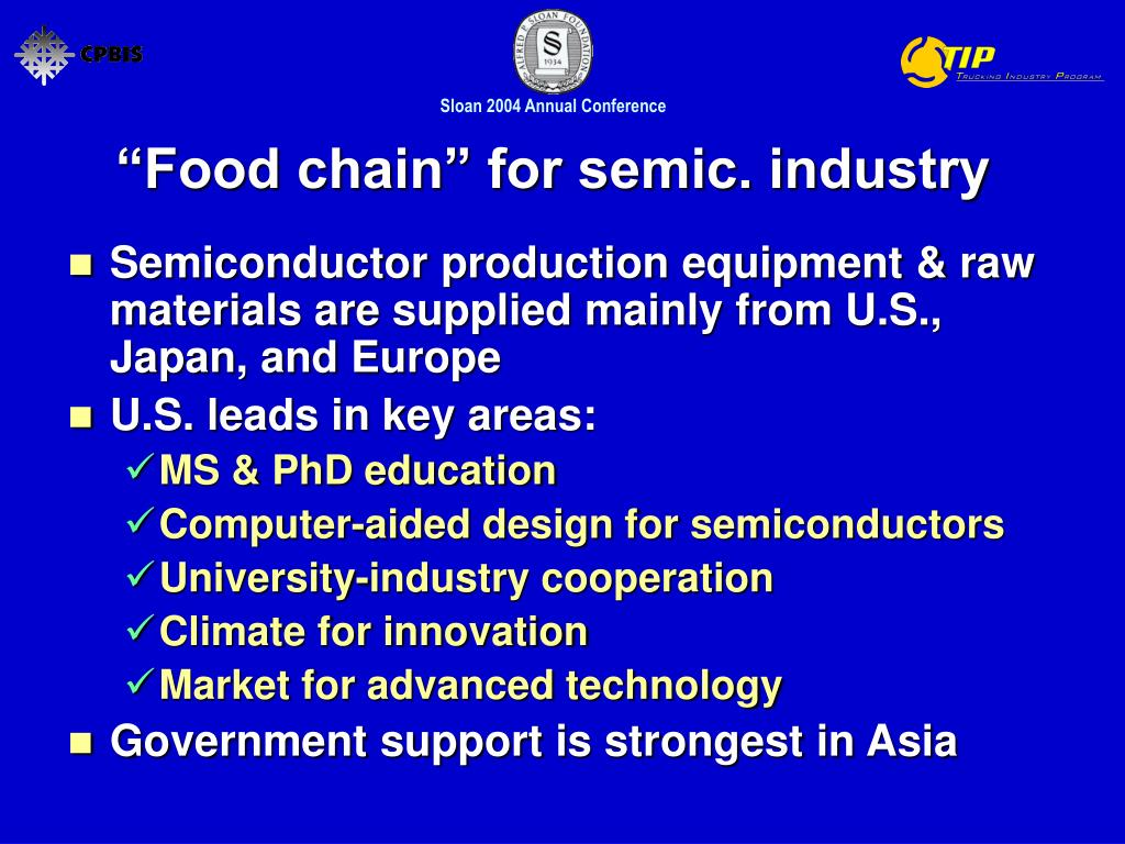 """""""Food chain"""" for semic. industry"""