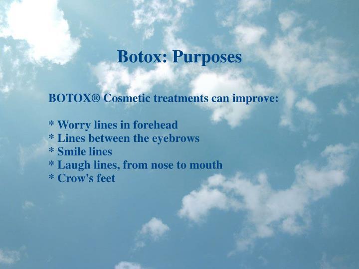 Botox: Purposes
