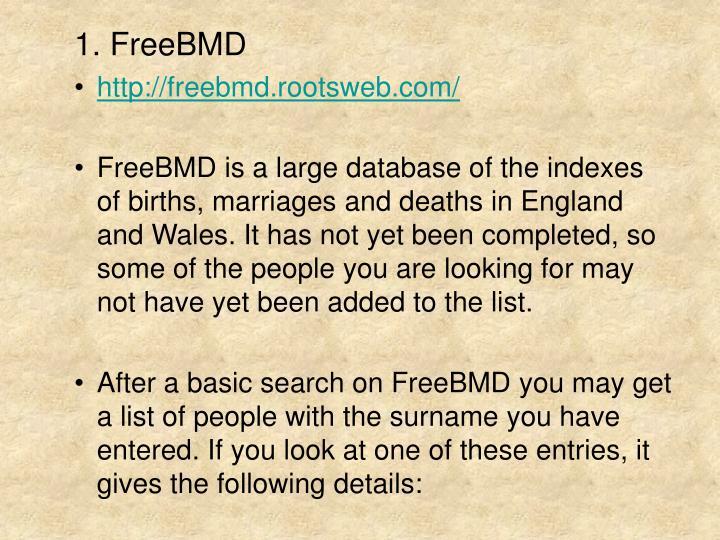 1. FreeBMD