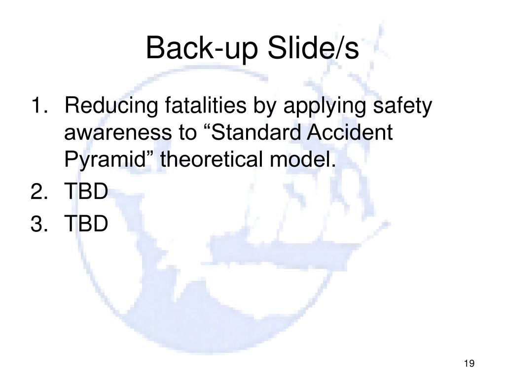 Back-up Slide/s